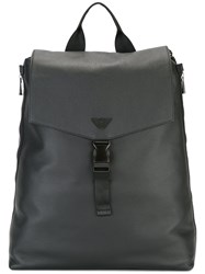 Emporio Armani Logo Pin Backpack Black