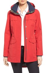 Pendleton Women's Hooded Rain Coat Red