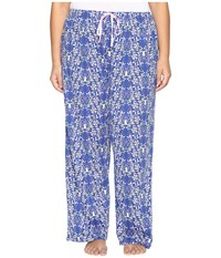 Jockey Plus Size Printed Long Pants Winter Woodland Women's Pajama Blue