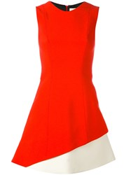 Fausto Puglisi Colour Block Dress Women Silk Acetate Viscose 38 Red