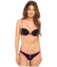 Emporio Armani Push Up Bikini Black Raspberry