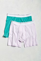 Urban Outfitters Uo Basic Boxer Brief 2 Pack Assorted
