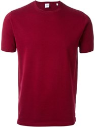Aspesi Short Sleeve Sweater Red
