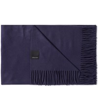 Canada Goose Solid Woven Scarf Blue