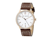 Ted Baker Modern Vintage Collection Custom Leather Strap Date Watch White Watches