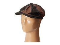 Carlos By Carlos Santana Leather Patched Cap Black Caps
