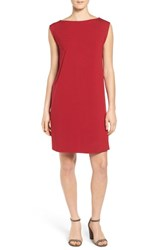 Eileen Fisher Women's Bateau Neck Jersey Dress China Red