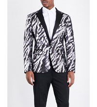 Dsquared2 Tiger Patterned Sequin Jacket Pailettes
