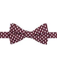 Tommy Hilfiger Men's Penguin Print To Tie Bow Tie Red