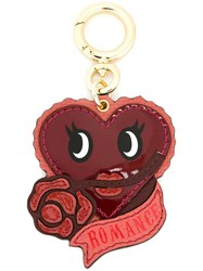 Burberry Heart Keyring Red