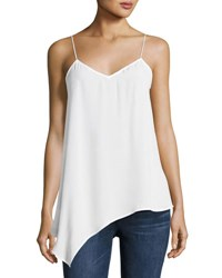 Laundry By Shelli Segal Solid Crepe Slip Tank White