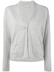 Le Tricot Perugia Knitted Cardigan Women Cotton Polyamide Polyester Viscose Xxxl Grey