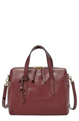 Fossil 'Sydney' Satchel Red Maroon