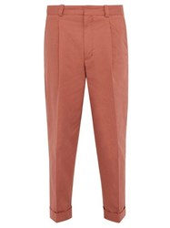 Acne Studios Pierre Turned Up Cuff Cotton Blend Chino Trousers Orange