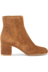 Gianvito Rossi Margaux 65 Suede Ankle Boots Tan