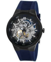 Kenneth Cole New York Men's Automatic Blue Silicone Strap Watch 44Mm 10022784