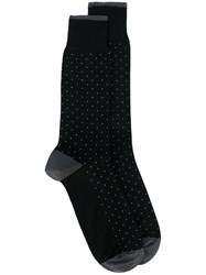 Dolce And Gabbana Polka Dot Socks Men Cotton Nylon Spandex Elastane L Black