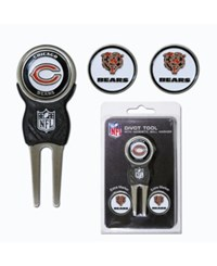 Team Golf Chicago Bears Divot Tool And Markers Set Team Color