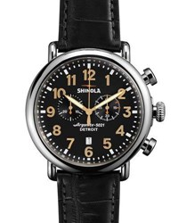 Shinola 47Mm Runwell Chronograph Men's Watch Black
