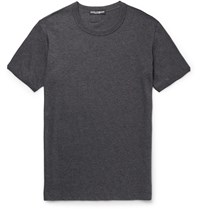 Dolce And Gabbana Slim Fit Cotton Jersey T Shirt Charcoal