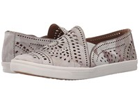 Earth Tangelo Flower Multi Print Leather Women's Slip On Shoes Silver