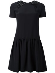 Paul Smith Ps By Stars Embellished Neck Dress Black