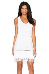 Leo And Sage Fringe Mini Dress White