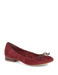 Anne Klein Petrica Leather Bow Tie Flats Red