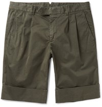 Boglioli Stretch Cotton Shorts Green
