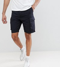 French Connection Tall Military Cargo Shorts Navy