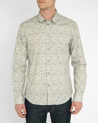 Carven Multi Coloured Ginkgo Flowers Round Neck Shirt