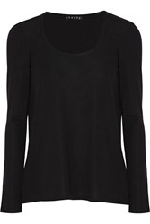 Theory Reighter Stretch Jersey Top Black