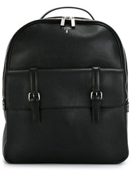 Serapian Zipped And Buckled Backpack Black