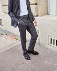 The Kooples Grey Wool Suit Trousers With Pockets