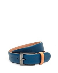 Ted Baker Block Colour Leather Belt Turquoise