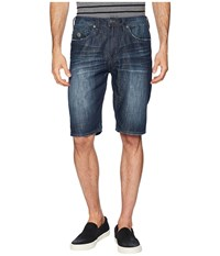 Buffalo David Bitton Dean Straight Fit Shorts Bleached And Veined Blue