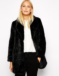 Whistles Kumiko Faux Fur Coat Black