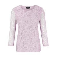 Viyella Stretch Lace Jersey Top Lilac