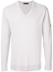 Loveless Long Sleeve Fitted Sweater Grey