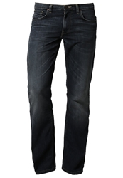 Lee Brooklyn Straight Straight Leg Jeans Blue Stone Used Blue Denim