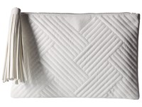 Jessica Mcclintock Gigi Quilted Pouch White Clutch Handbags