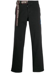 Off White Industrial Belt Chino Trousers Black