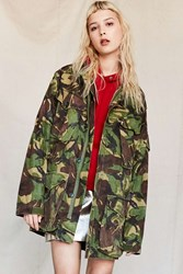 Urban Renewal Vintage Woodland Camo Surplus Jacket Green