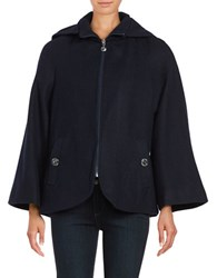 Betsey Johnson Wool Blend Cape Coat Navy