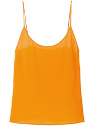 Capucci Spaghetti Strap Top Yellow And Orange