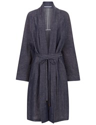 Rosetta Getty Indigo Split Shawl Coat Blue