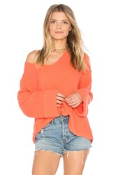 Free People La Brea V Neck Sweater Red
