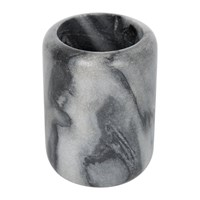 Amara Grey Marble Toothbrush Holder