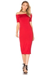 Rachel Pally Jagger Midi Dress Red