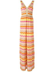 M Missoni Zigzag V Neck Dress